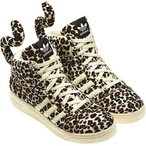 Adidas x Jeremy Scott Leopard Tail Furry High Tops